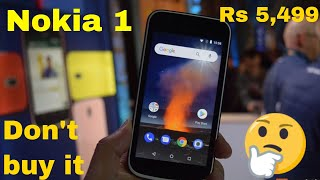 Nokia 1 Android go Edition at Rs 54,99 | full review | Don't buy it!!!!