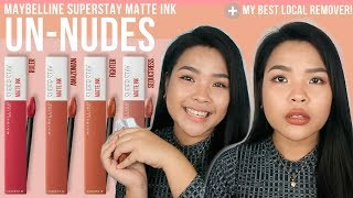 BEST Maybelline UN NUDES shades + 95 Php Remover na Local at Effective! | Miho Ochoa