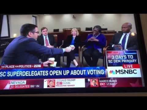 Rep Gilda Cobb-Hunter with MSNBC Ari Melber