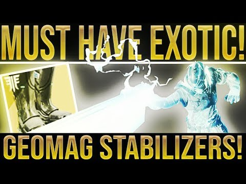 Destiny 2. MUST HAVE EXOTIC! Forsaken Exotic Boots Review Geomag Stabilizers. Best Warlock Exotic!