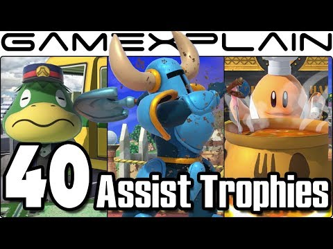 Super Smash Bros. Ultimate - All 40 New & Returning Assist Trophies We've Seen So Far (+Origins!)
