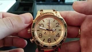 Nixon 51 30 Chrono Rose Gold Review And Tutorial