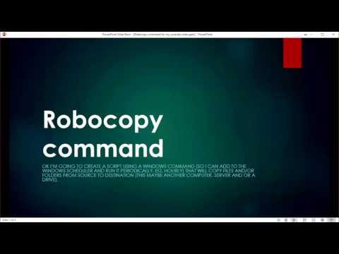 Robocopy command in a bat file