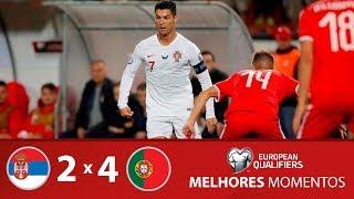 SÉRVIA 2 x 4 PORTUGAL - MELHORES MOMENTOS - ELIMINATÓRIAS EUROCOPA (07/09/2019)