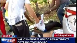 Varios menores heridos en accidente de transito en Bonao
