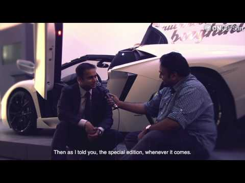 2013 Lamborghini Aventador Roadster LP700-4 launch event in India + Interviews