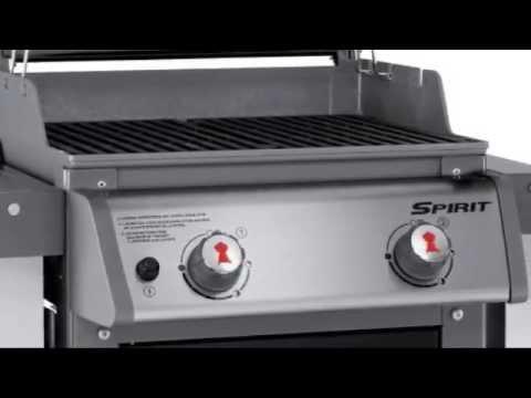 Weber spirit e 210 liquid propane gas grill youtube for Housse barbecue weber e210