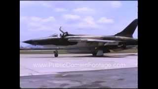 F-105 Fighter Jets in Vietnam 1967 Raw Archival Stock Footage Scene 13 PublicDomainFootage.com