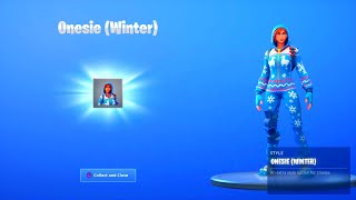 "FORTNITE ONESIE ""WINTER"" STYLE UNLOCKED! SEASON 8 BATTLE PASS UNLOCKED! NEW FREE OVERTIME CHALLENGES"