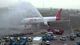 Aankomst laatste passagiersvlucht van Martinair 30 oktober 2011