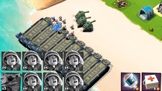ONE BOAT OF TANK | Boom Beach | 3X TANKS 28X MEDICS