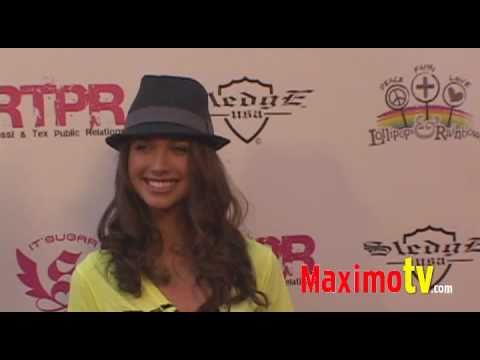 MAIARA WALSH at Lollipops and Rainbows Launch Event