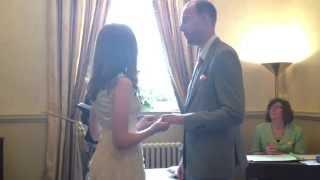 Renee and David's UK Wedding Ceremony