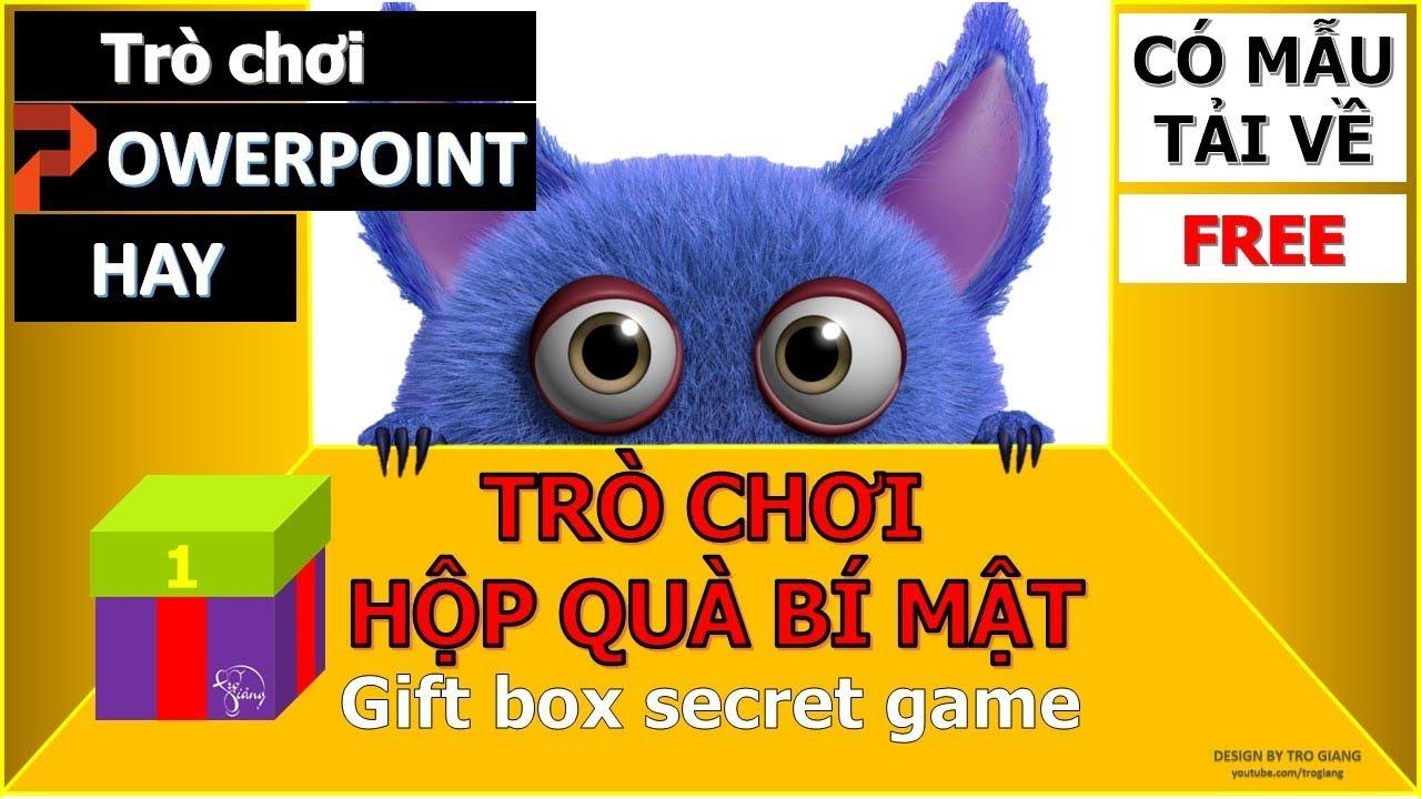 Trò chơi PowerPoint Hộp quà bí mật | Gift box secret PowerPoint Game | TRỢ GIẢNG