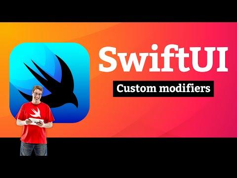 Views and Modifiers 9/10: Custom modifiers –SwiftUI Tutorial thumbnail