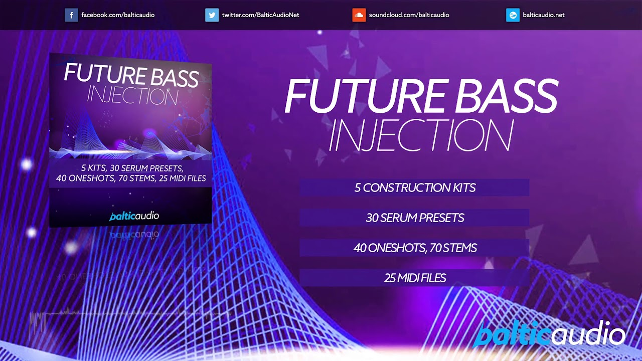Future Bass Injection (5 construction kits, 110 WAVs, 30 Serum presets, 25 MIDIs)