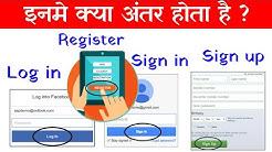 Log in Vs Sign in Vs Sign up Vs Register