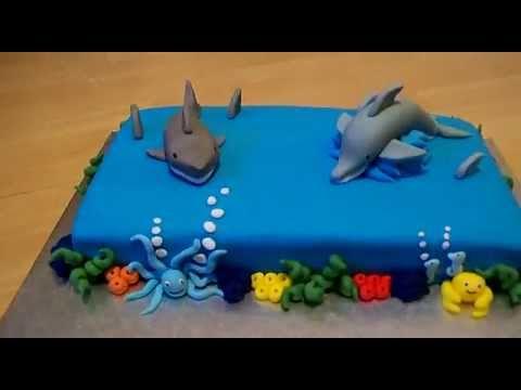 Shark Design Cake