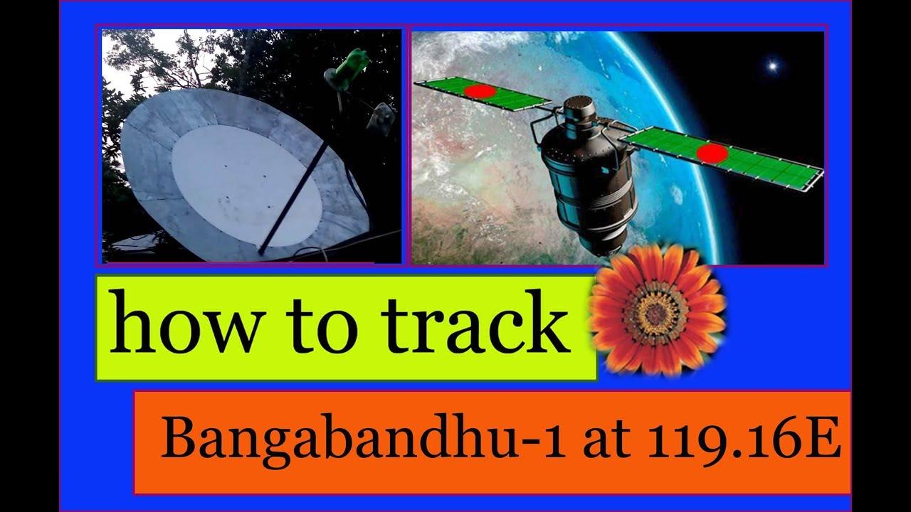 how to track Bangabandhu-1 at 119 16E satellite / HOMEMADE C BAND