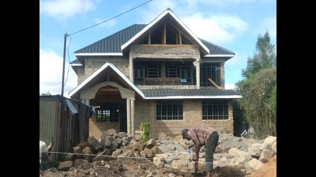 Construction works in progress for Simple 4 Bedroom House ...