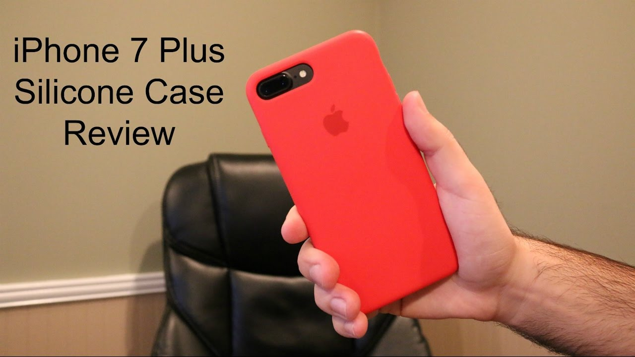 iphone 7 silicon case red