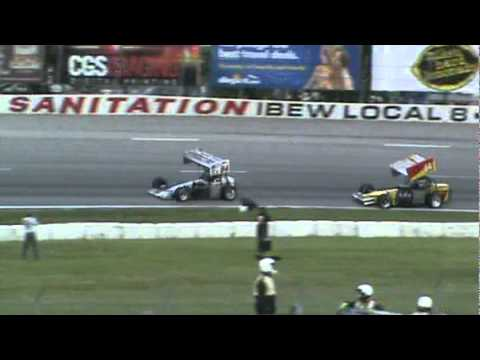 Johnny Benson Supermodified Heat Race Midwest Supermodified Association