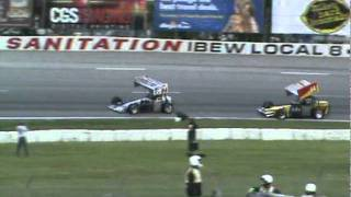 Johnny Benson Supermodified Heat Race Midwest Supermodified Association