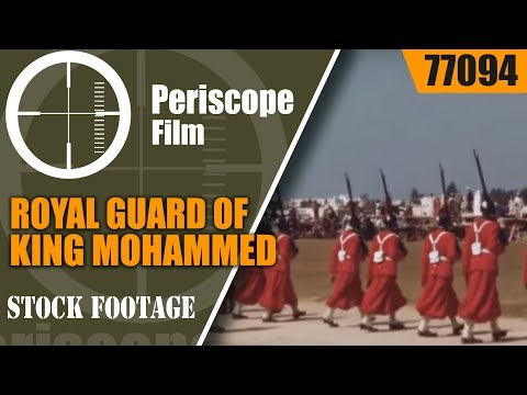 ROYAL GUARD OF KING MOHAMMED THE FIFTH 1940s HOME MOVIE MOROCCO   77094
