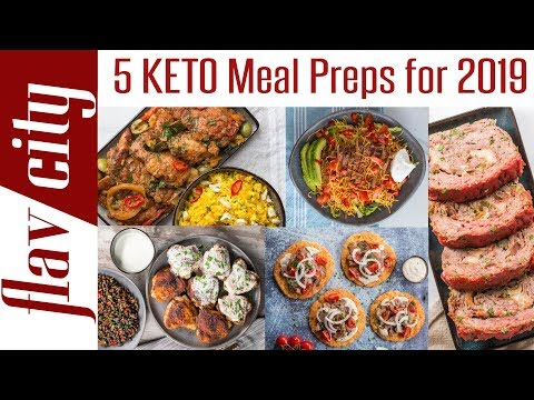 5 Keto Meal Prep Recipes For Weight Loss - 2019 Clean Eating