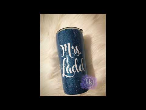 Epoxy Method Glitter Tumbler - How To For Beginners