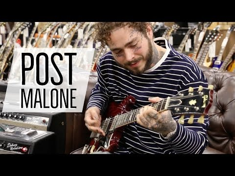 Post Malone at Normans Rare Guitars  1964 Gibson SG Standard