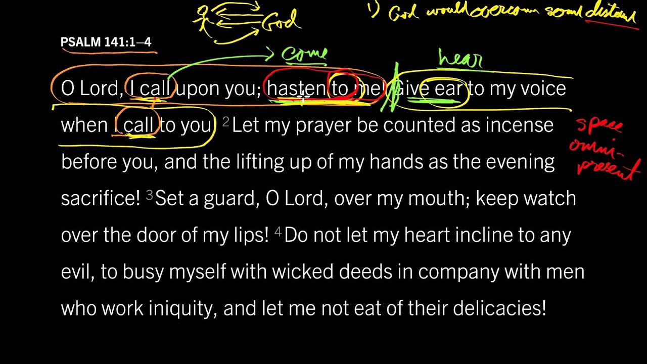 what does psalm 141 mean