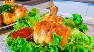 Курица в мешочках. Как Приготовить Куриные Ножки в Слоеном Тесте.