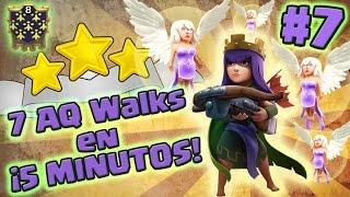 ¡7 AQ Walks en 5 MINUTOS! #7 ★★★ 100% | Caminata de la Reina TH9 y TH10 + LaLoon-Hogs | ClashofClans