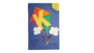 How To Create The Letter K Kite Craft
