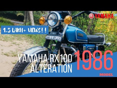 YAMAHA RX 100 Bike Alteration (1986 Model). Modified Restoration