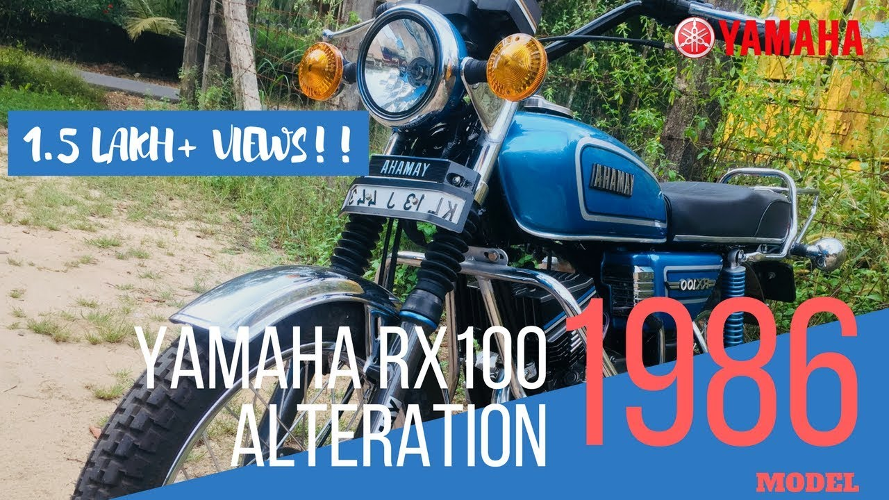 Yamaha Rx 100 Bike Alteration 1986 Model Modified Restoration