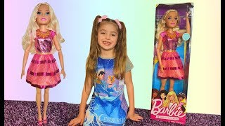Dominika open new Barbie doll toys