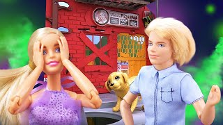 Видео про куклы. Как собака спасла Барби. Игрушки для девочек