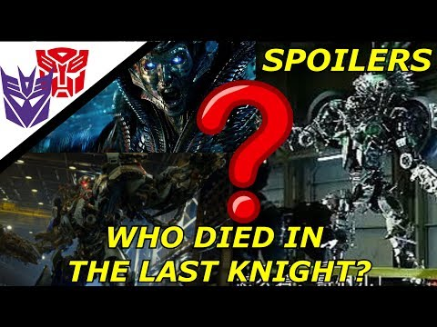 Transformers The Last Knight Spoilers All Characters That Die