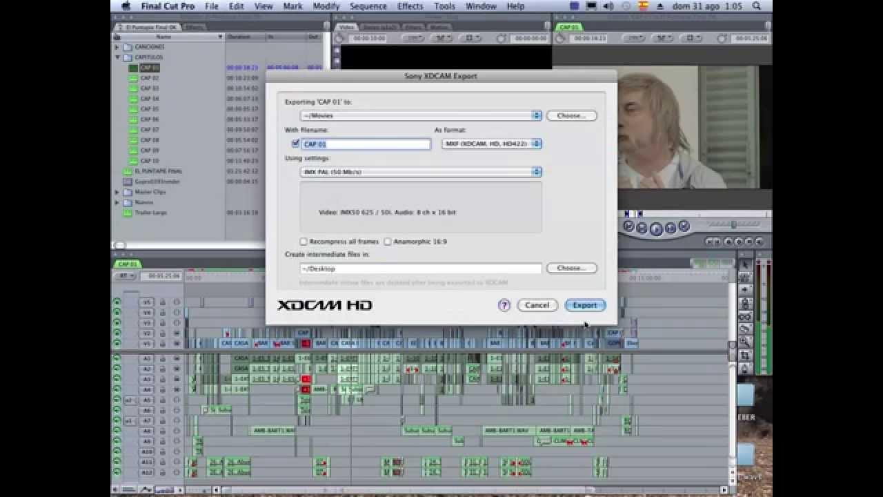 xdcam transfer mac final cut 7