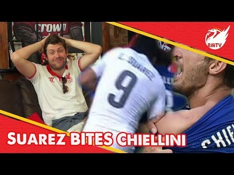 Luis Suarez Bites Chiellini | Uncensored Liverpool Fan Reaction