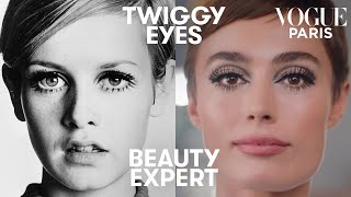 Get Twiggy's 1960s eye makeup in 5 minutes with Charlotte Tilbury | Beauty Expert | Vogue Paris