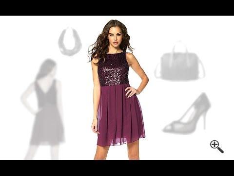 Rotes Chiffon Kleid in kurz mit Pailletten + 3 Partyoutfit Tipps für ...