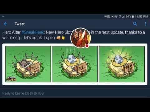 Castle Clash Sneak Peek! New Hero Slots!