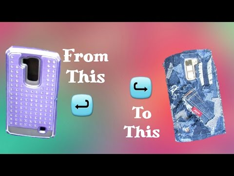 D.I.Y/ How to: Denim cell phone case