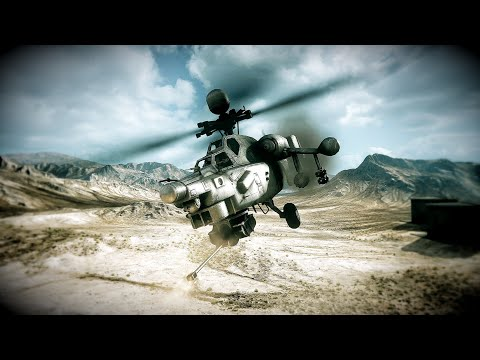 Battlefield 3 - Attack Helicopter gameplay on Wake Island