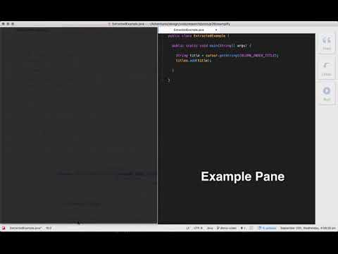 Interactive Extraction of Examples from Existing Code