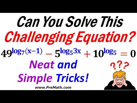 How to Solve Exponential Equations with Logarithmic Exponents Using Neat and Simple Tricks