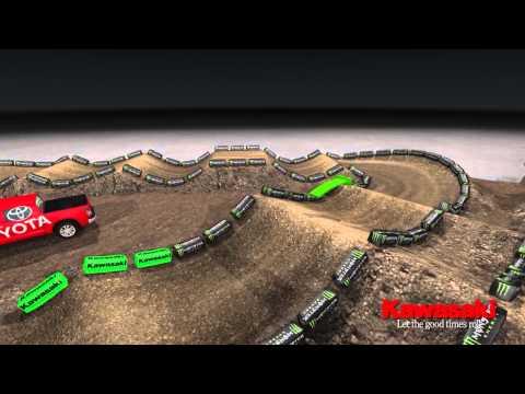 Supercross LIVE 2013 – Seattle 42013 – Monster Energy Supercross Animated Track Map